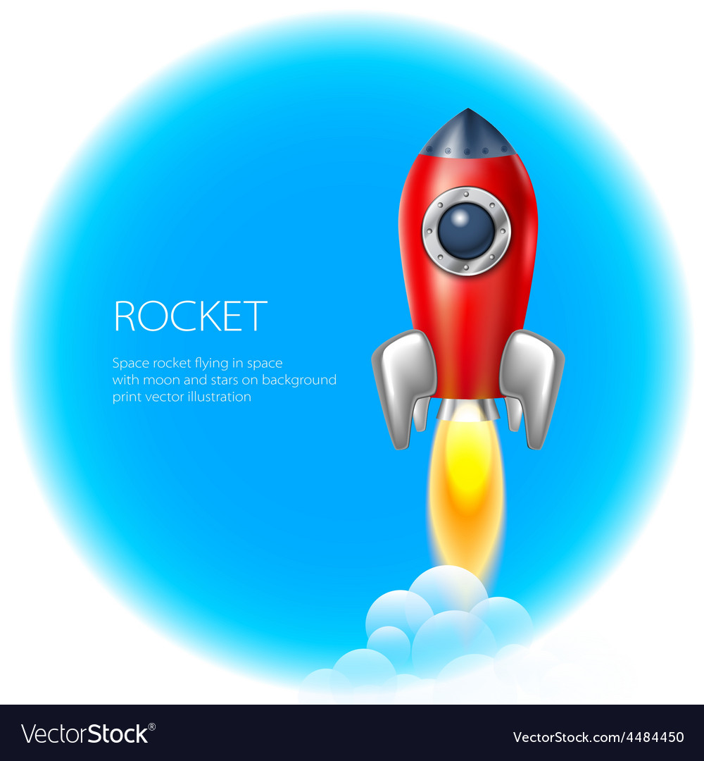 Rocket icon space fire symbol flame cartoon