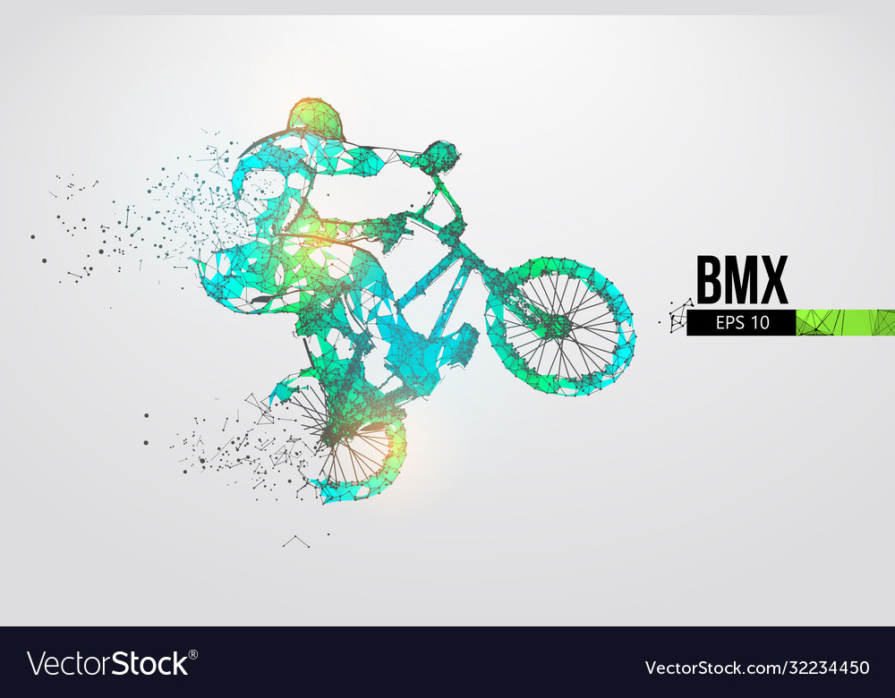 Silhouette a bmx rider thanks for watching