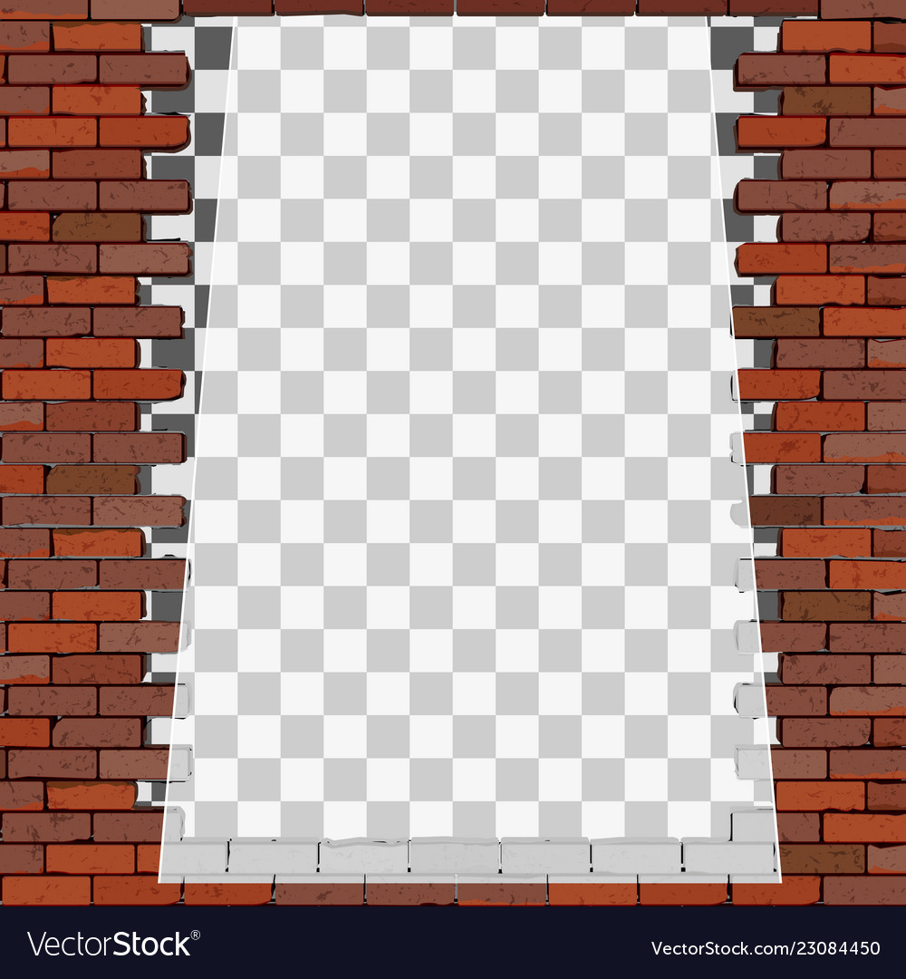 Transparent Frame On Brick Wall