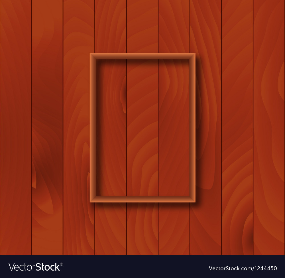 Wooden Background With Frame Overlay