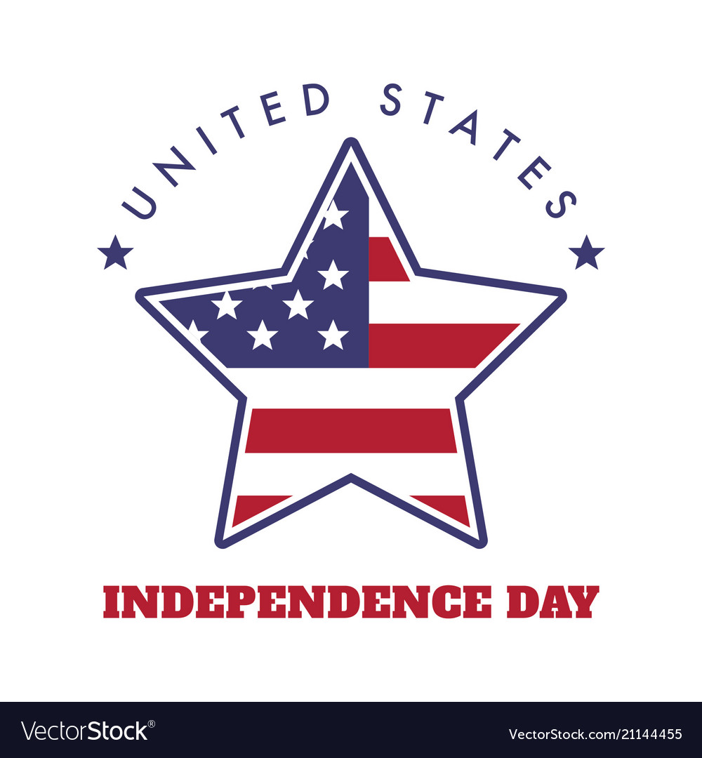 4th july united states independence day emblem