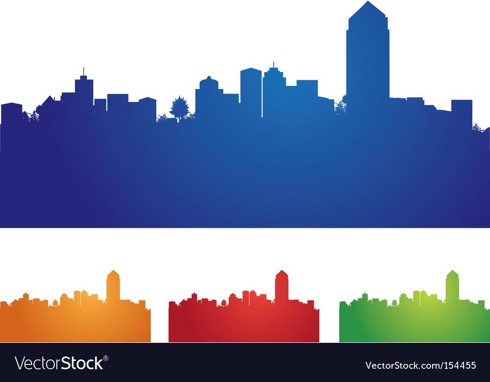 Cityscape four colors vector image