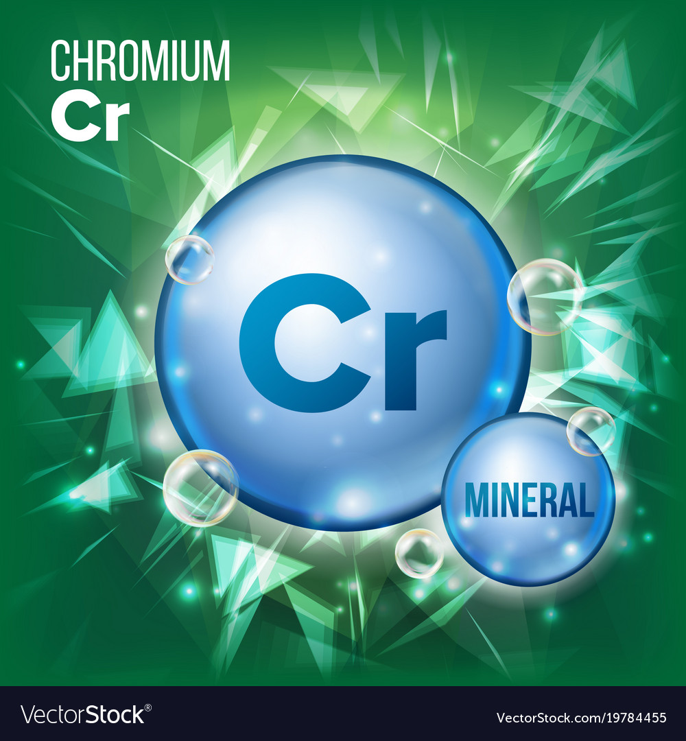 Cr chromium mineral blue pill icon