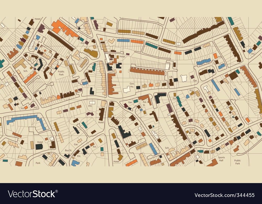 Housing map vector image