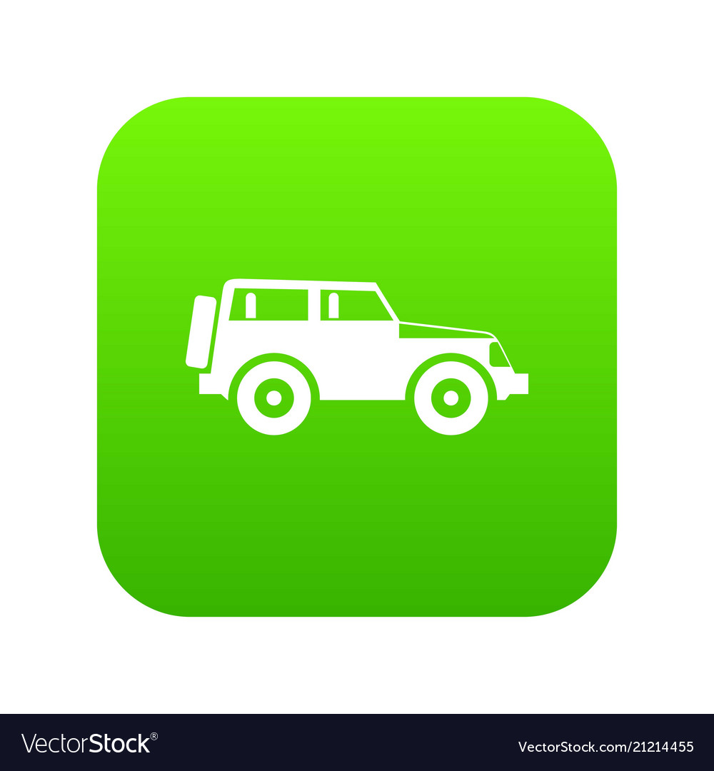 jeep icon digital green royalty free vector image