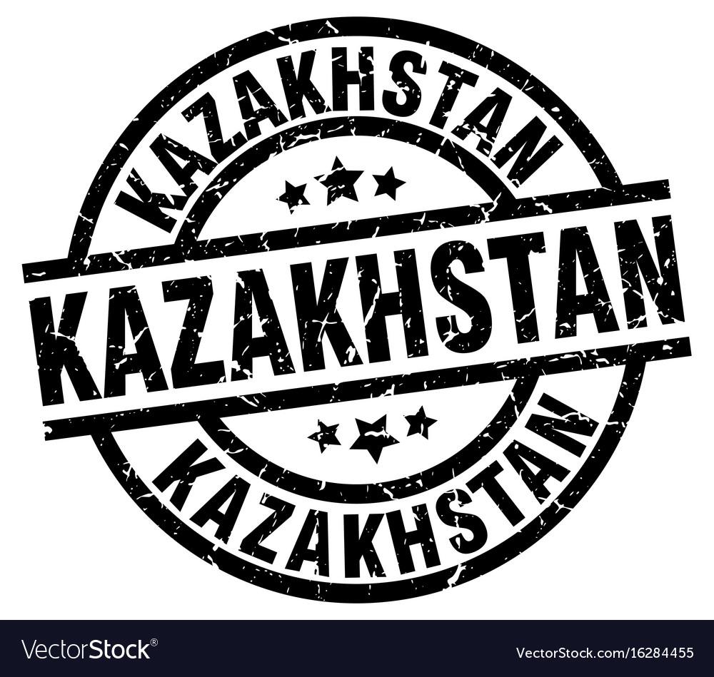 Kazakhstan black round grunge stamp