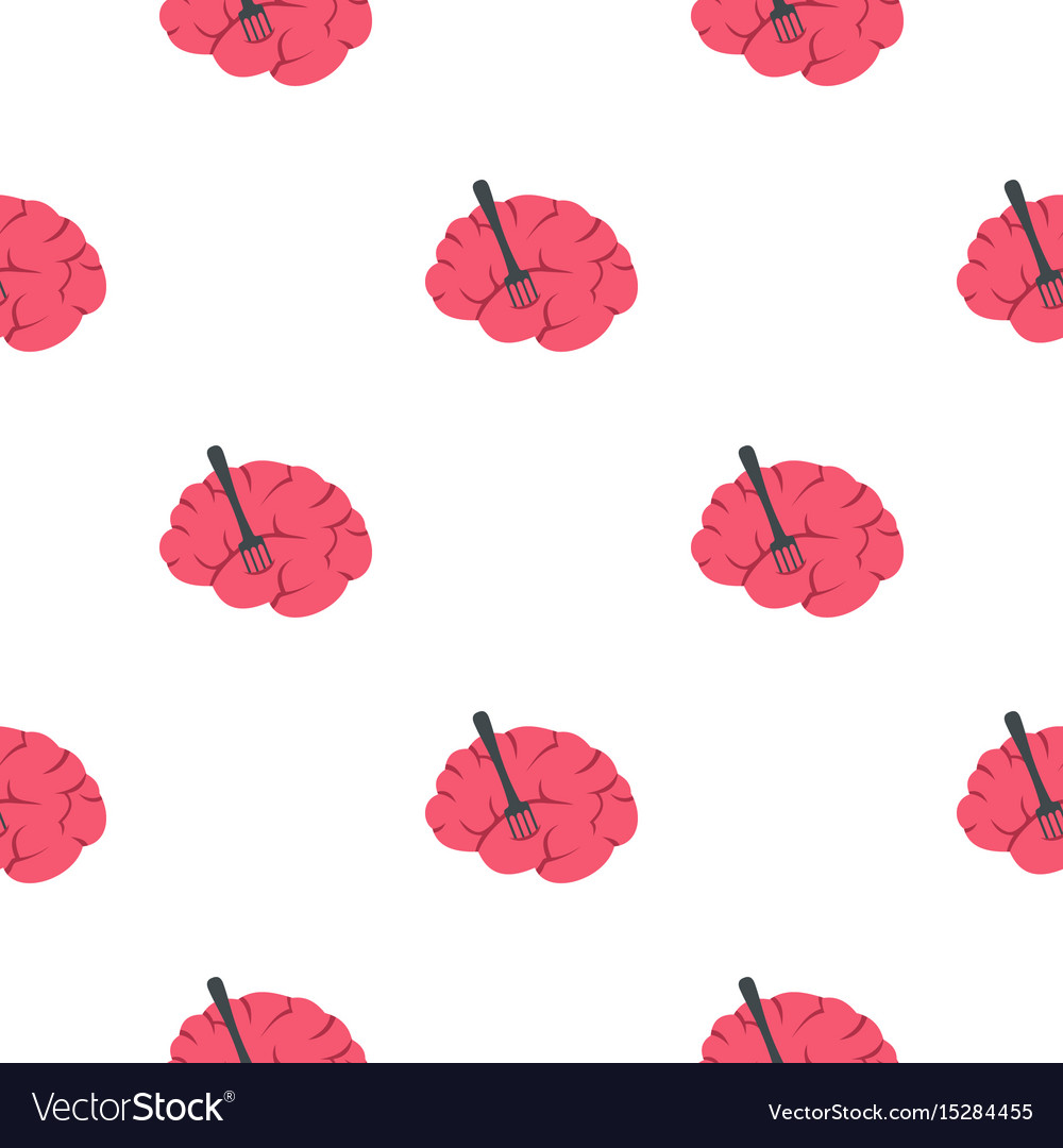 Pink brain with fork pattern seamless
