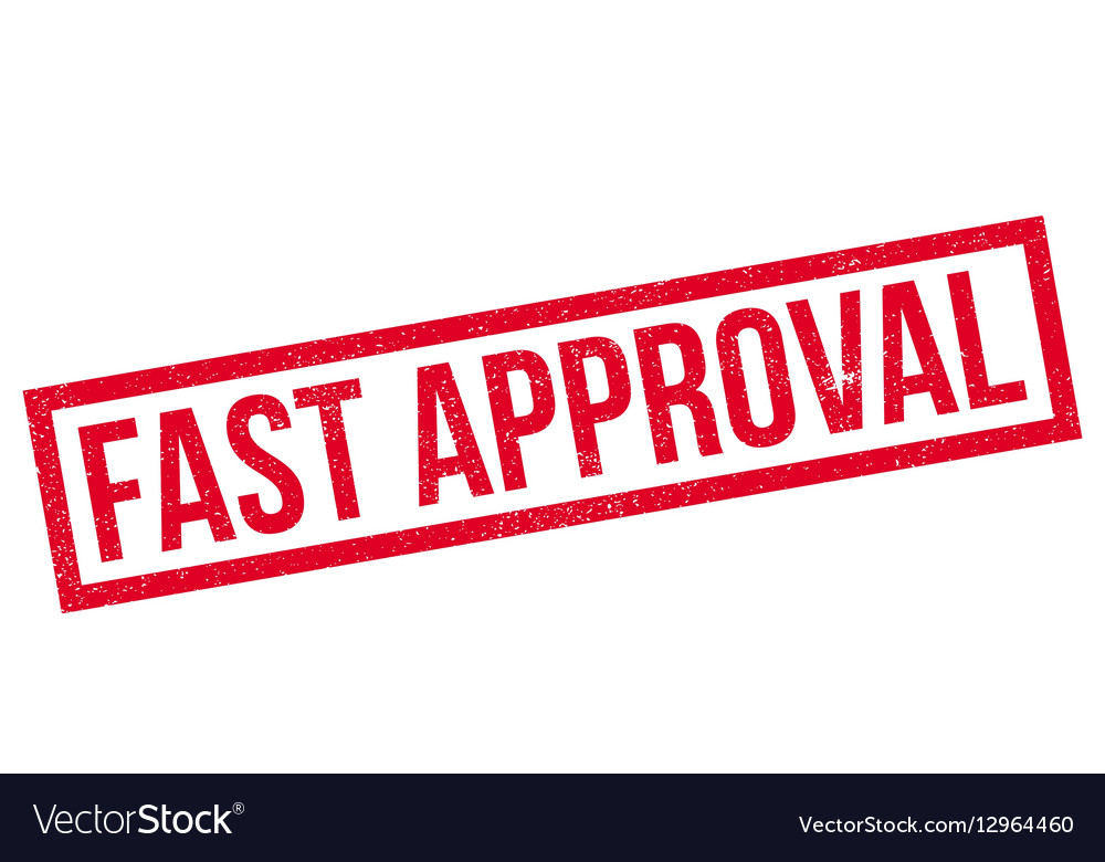 Fast Approval Rubber Stamp Vector Image