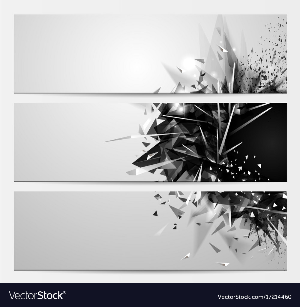 Geometric abstract backgrounds with black color