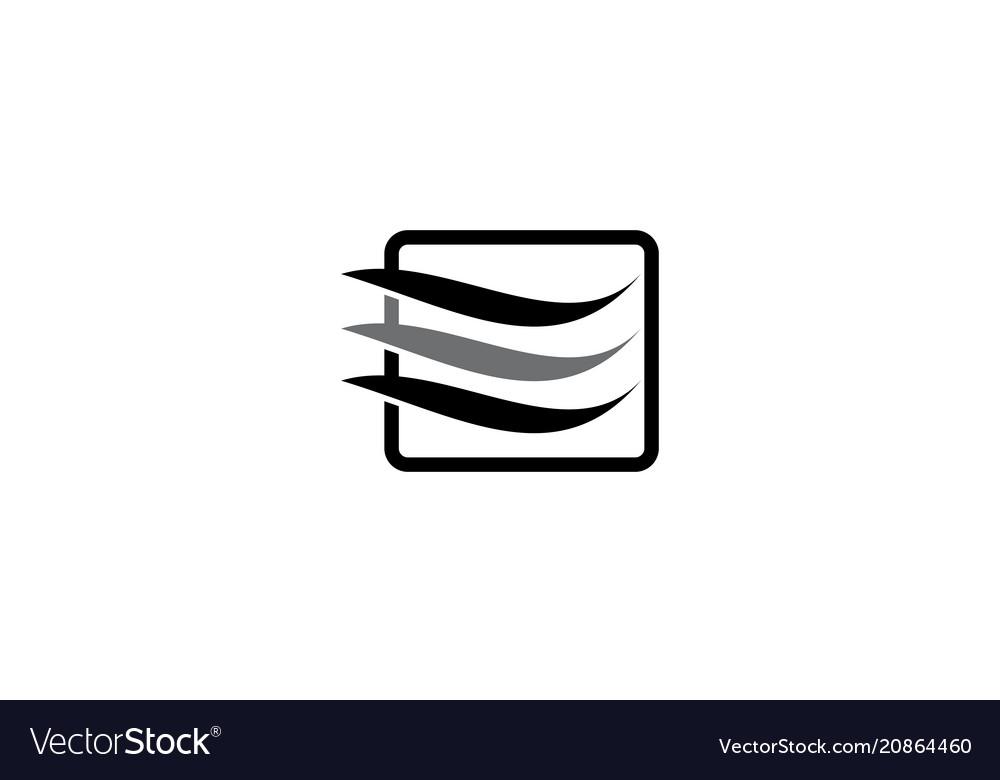 Hair beauty logo design template
