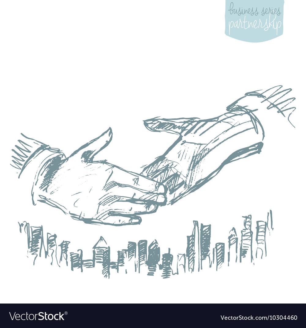 Handshake businessmen success partnership
