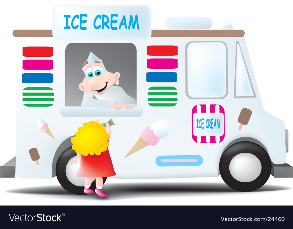 Ice cream man vector image