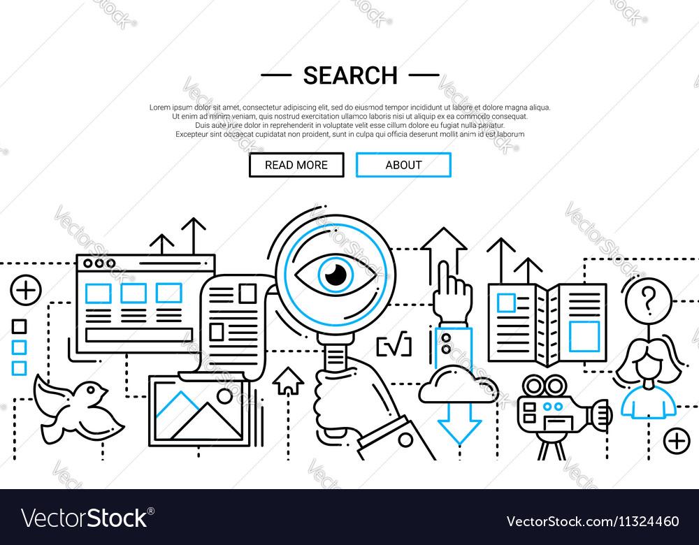 Search - line design website banner temlate