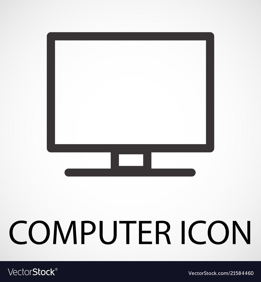 Simple computer icon