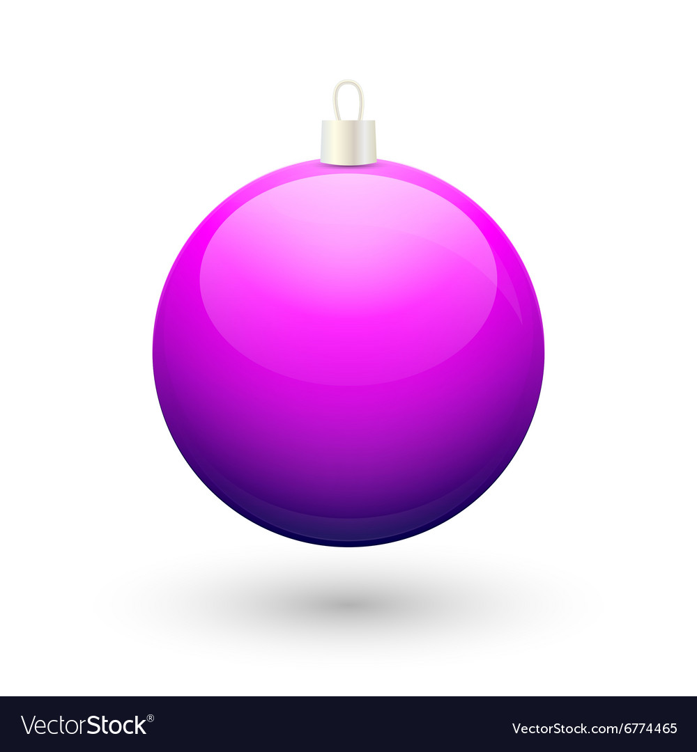 Gradient christmas purple ball