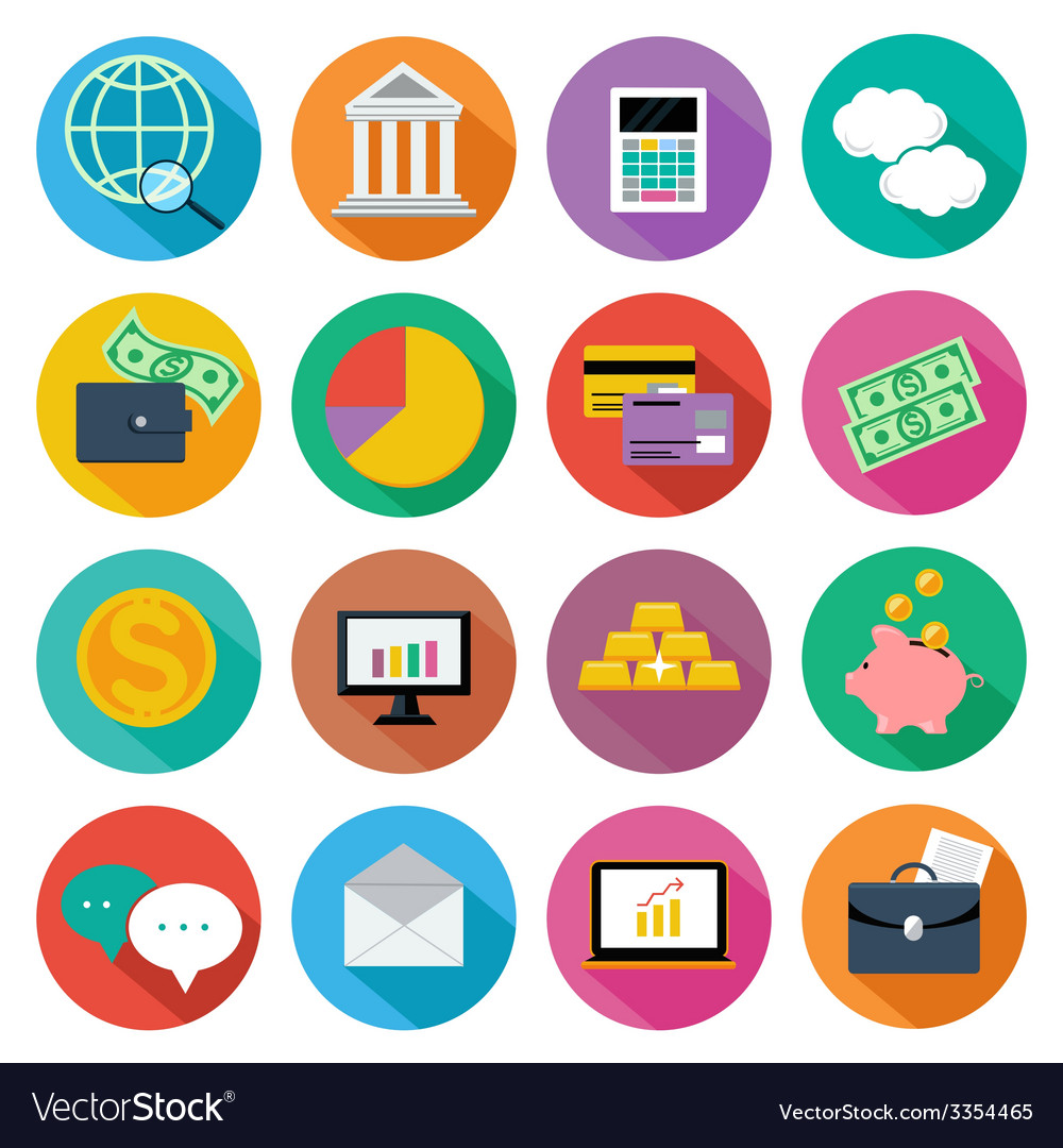 Icon set for finance investment management