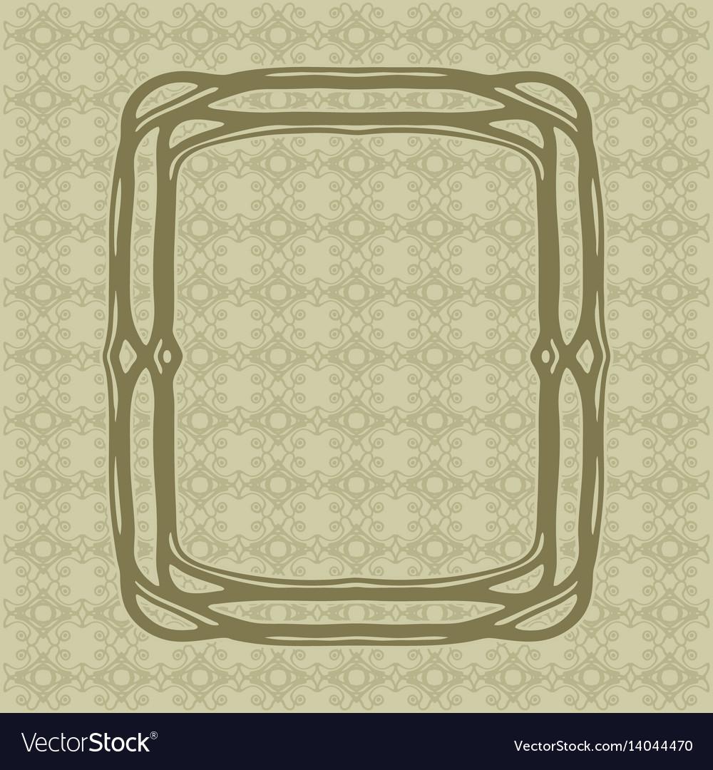 Art nouveau decorative frame art deco style border