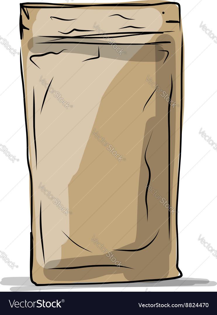 Bag packaging sketch for your design