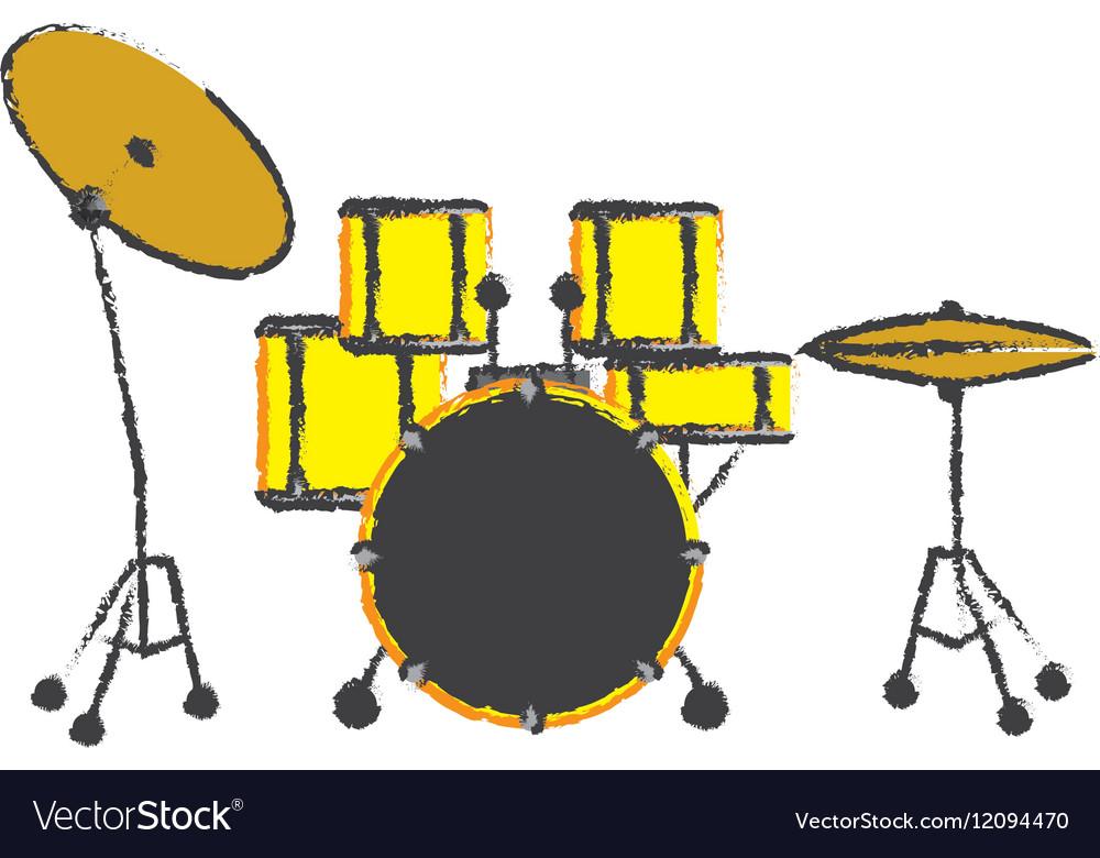 Drum music instrument vector image on VectorStock