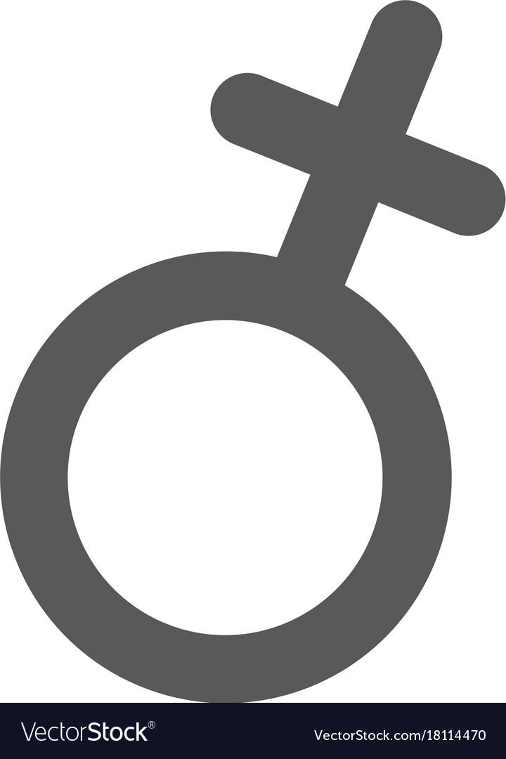 Female Gender Symbol Icon Simple Royalty Free Vector Image