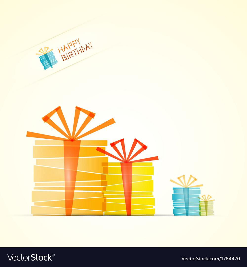 Happy Birthday Theme Present Boxes