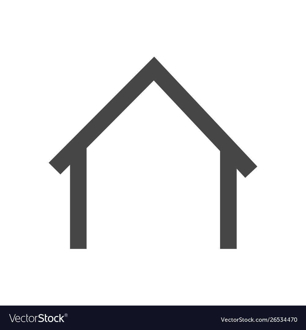 Home icon simple car sign