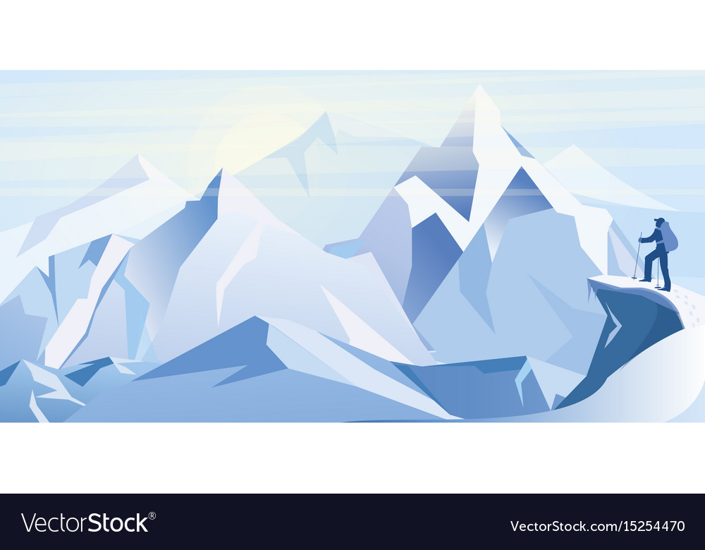 Ice mountains with