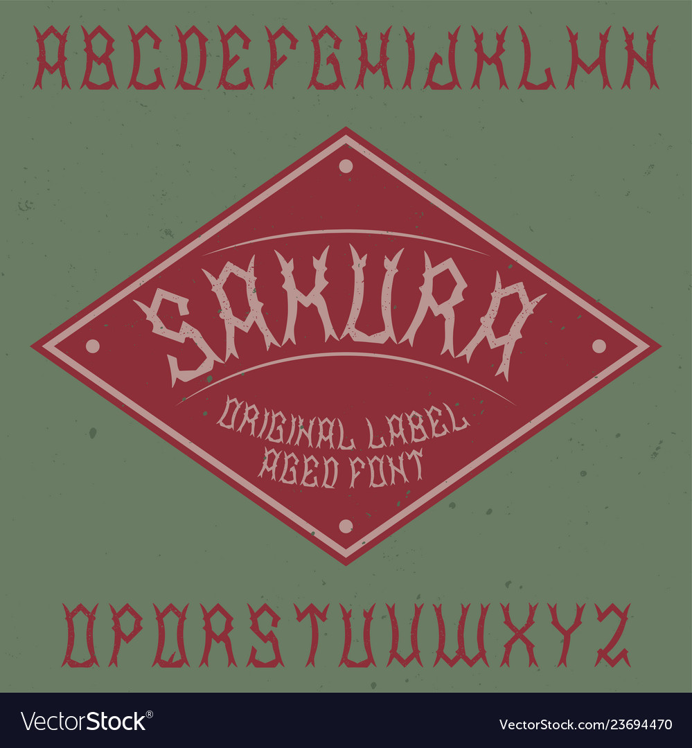 Label font named sakura