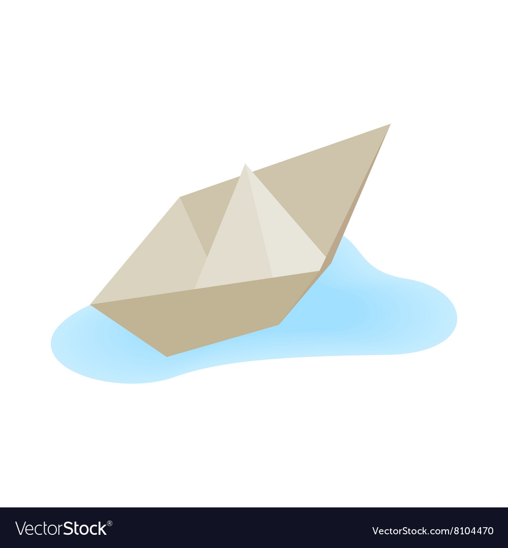 Paper boat icon isometric 3d style