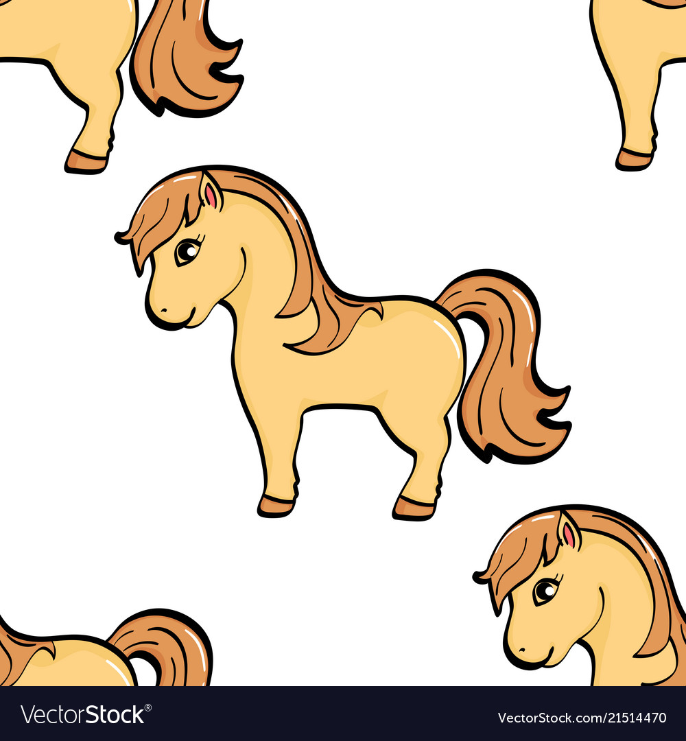 Seamless background animal object a horse a