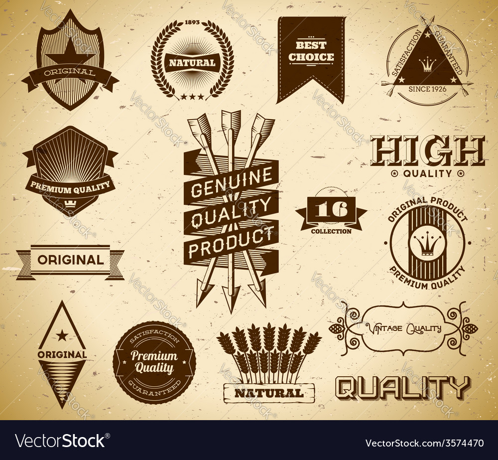 Vintage labels Collection 16 vector image