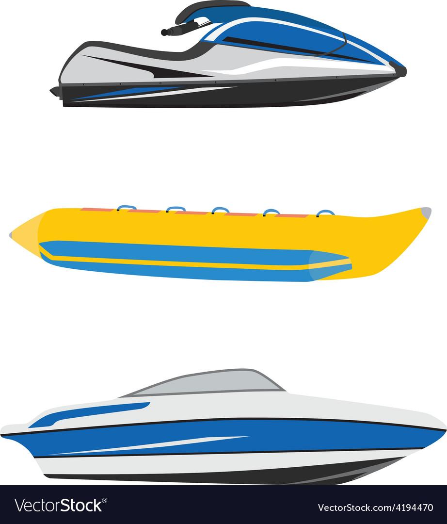 Water transport vector image