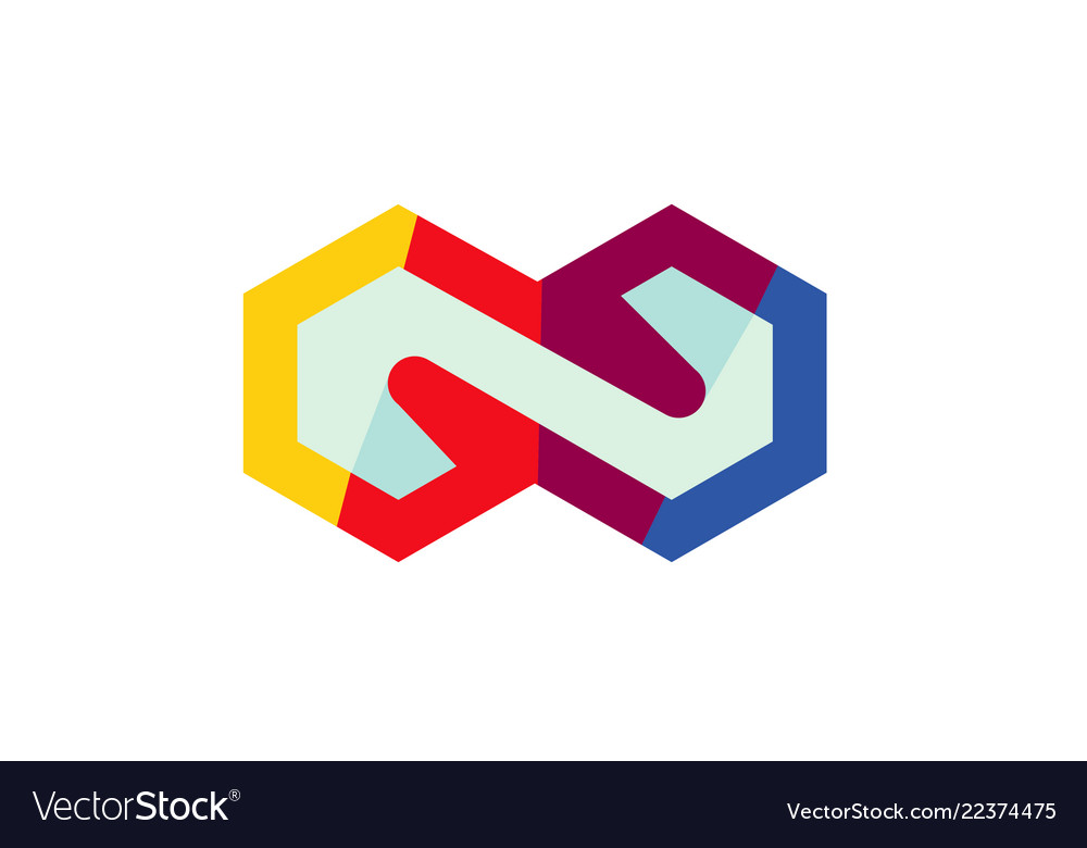 Colorful hexagon infinite logo