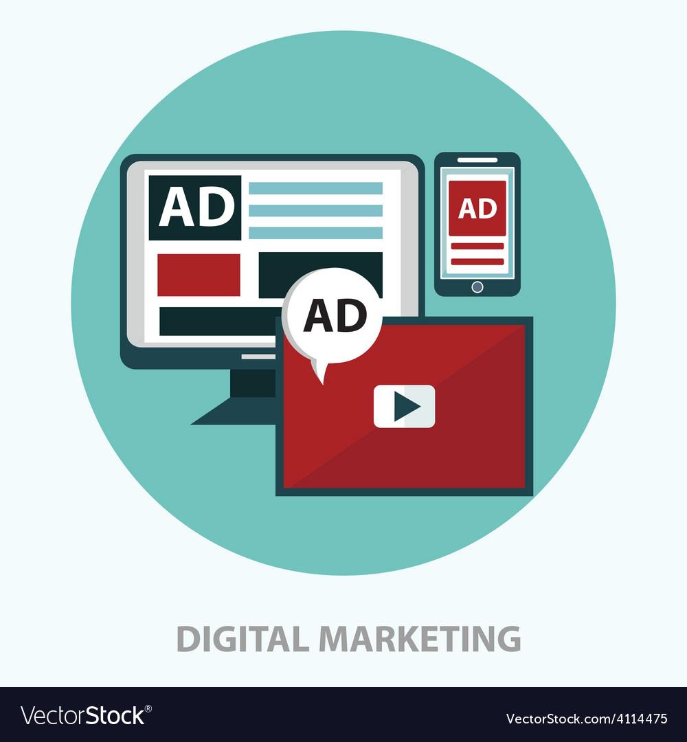 Digital marketing icon Royalty Free Vector Image