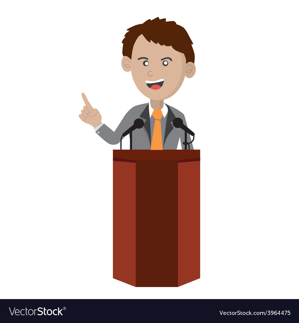 Orator Standing On Podium