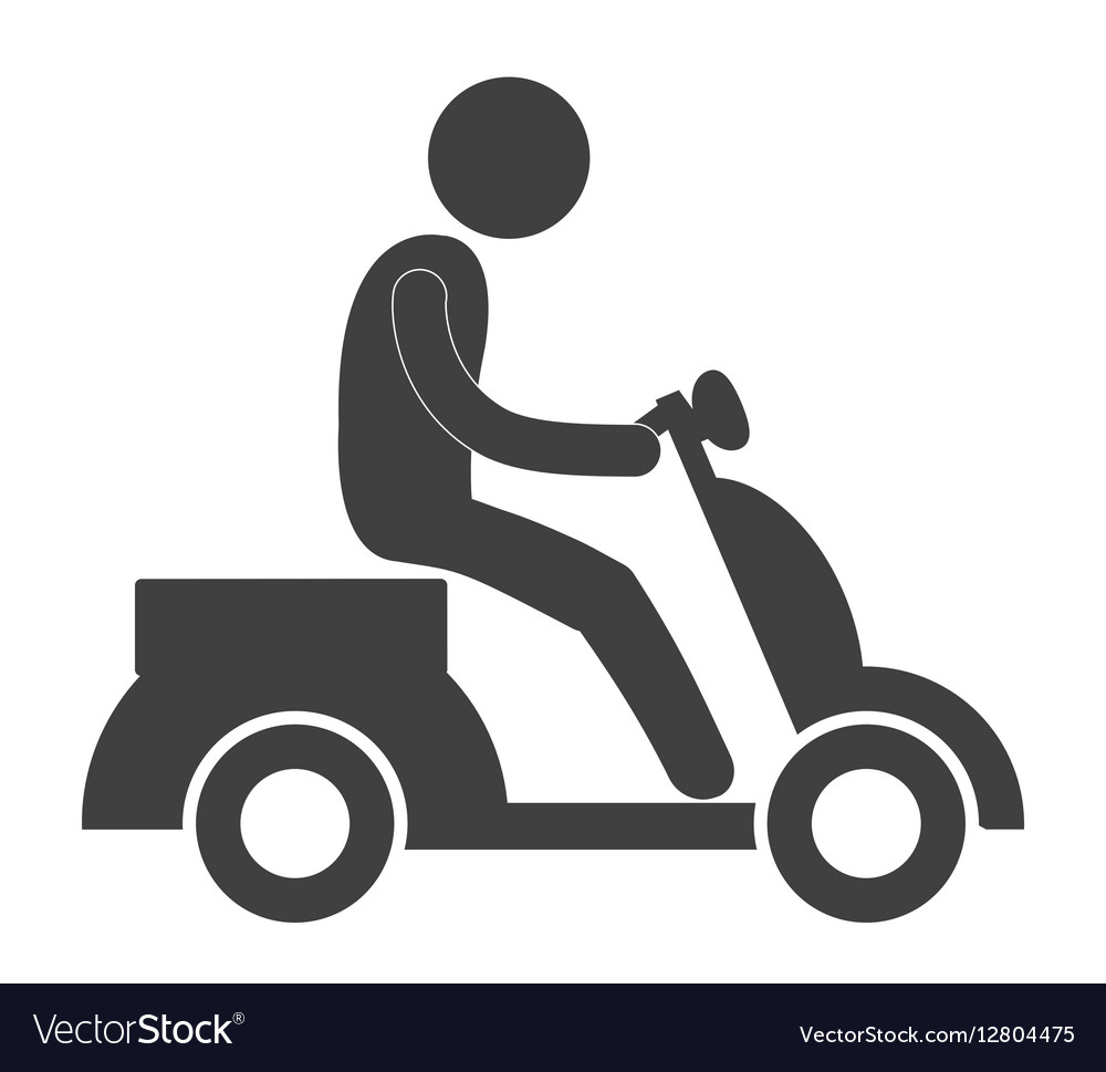 Person pictogram riding pictogram icon image vector image