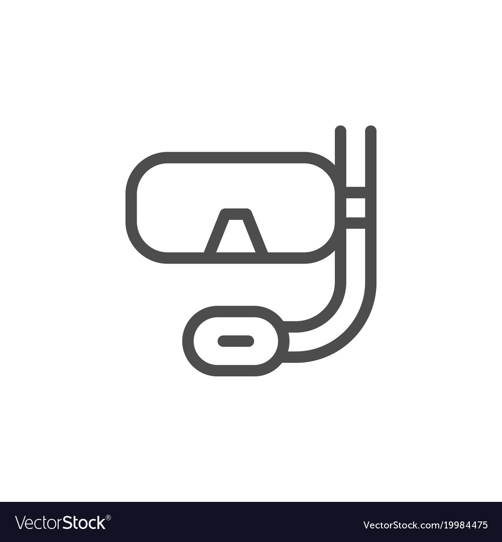 Scuba diving mask line icon