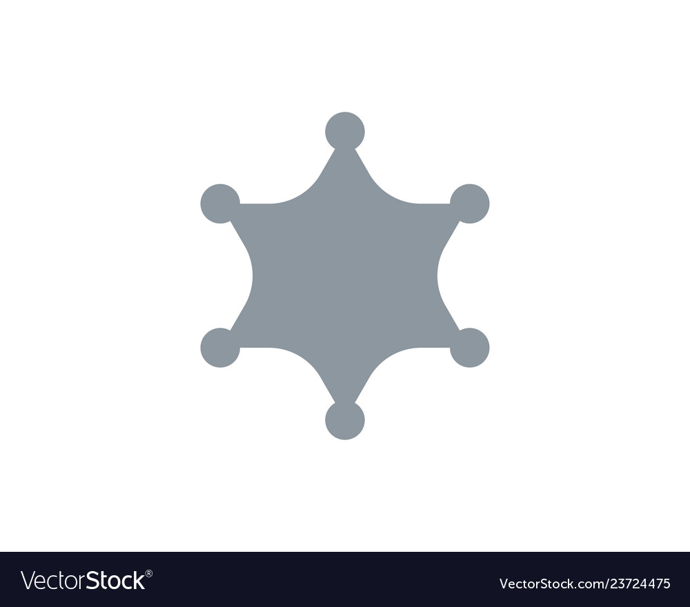 Star sherif icon template