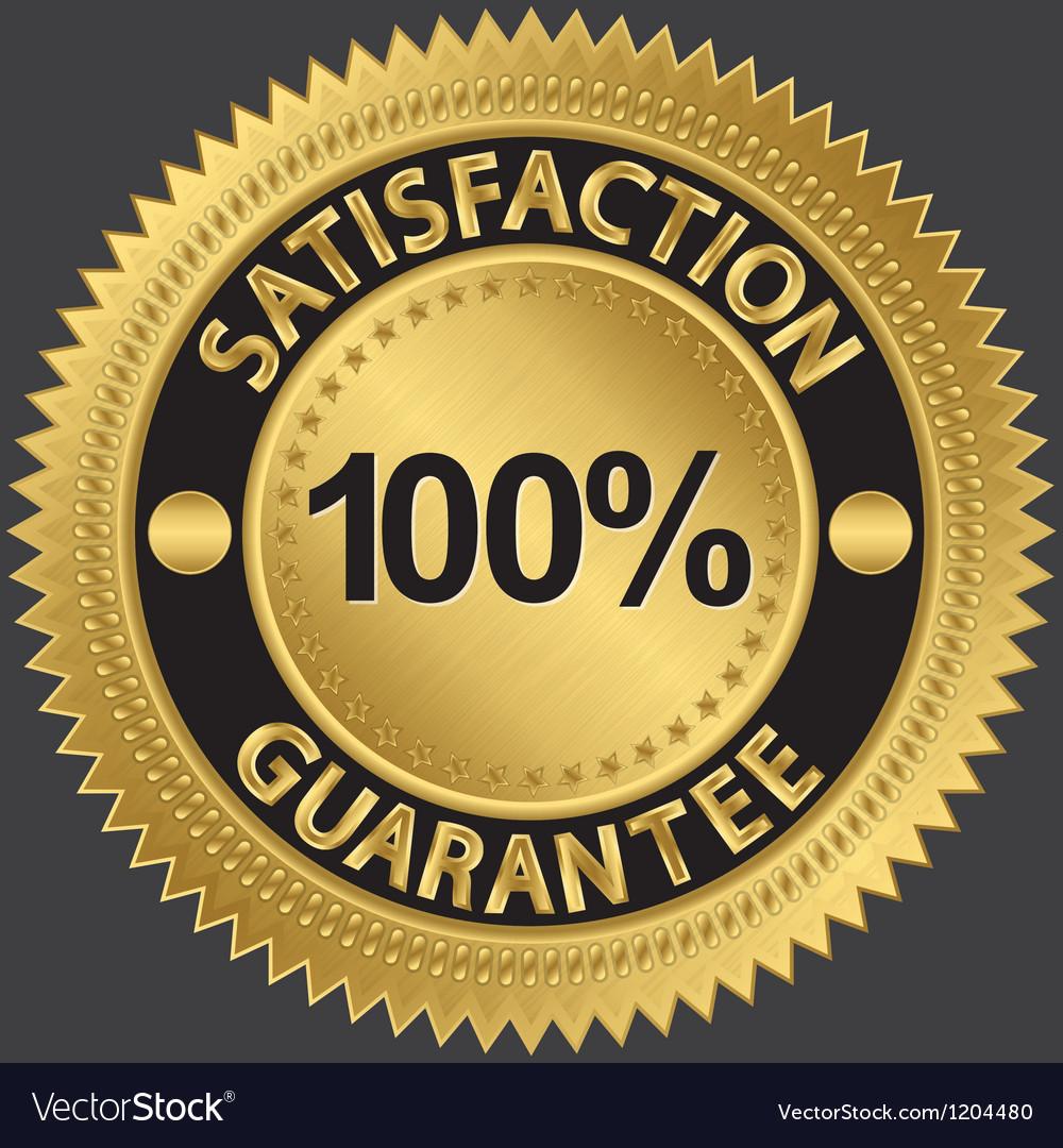 cbfcc3ed3712 100 percent satisfaction guarantee Royalty Free Vector Image