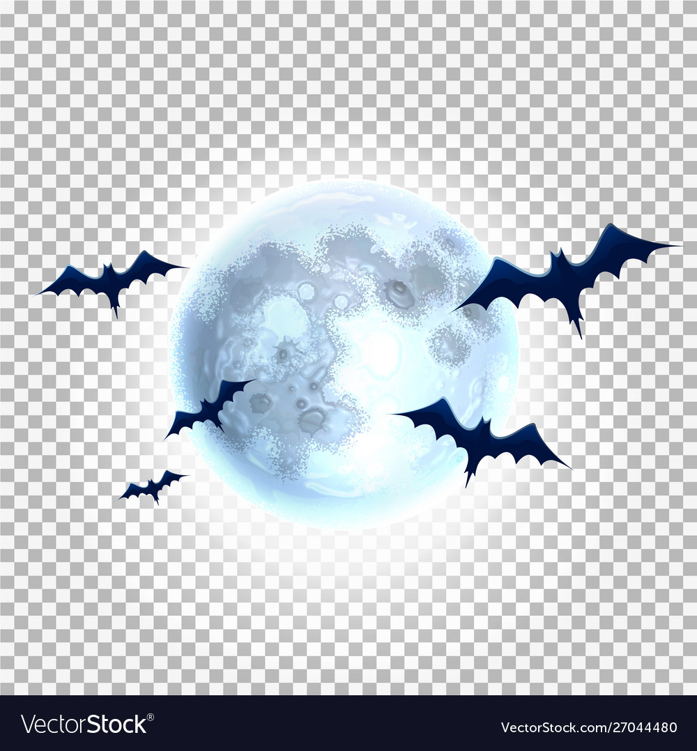 Bat silhouette on moon for halloween party