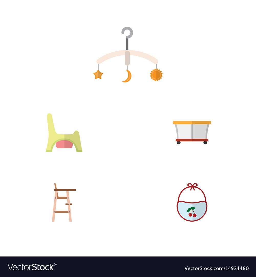 Flat baby set of playground mobile child chair