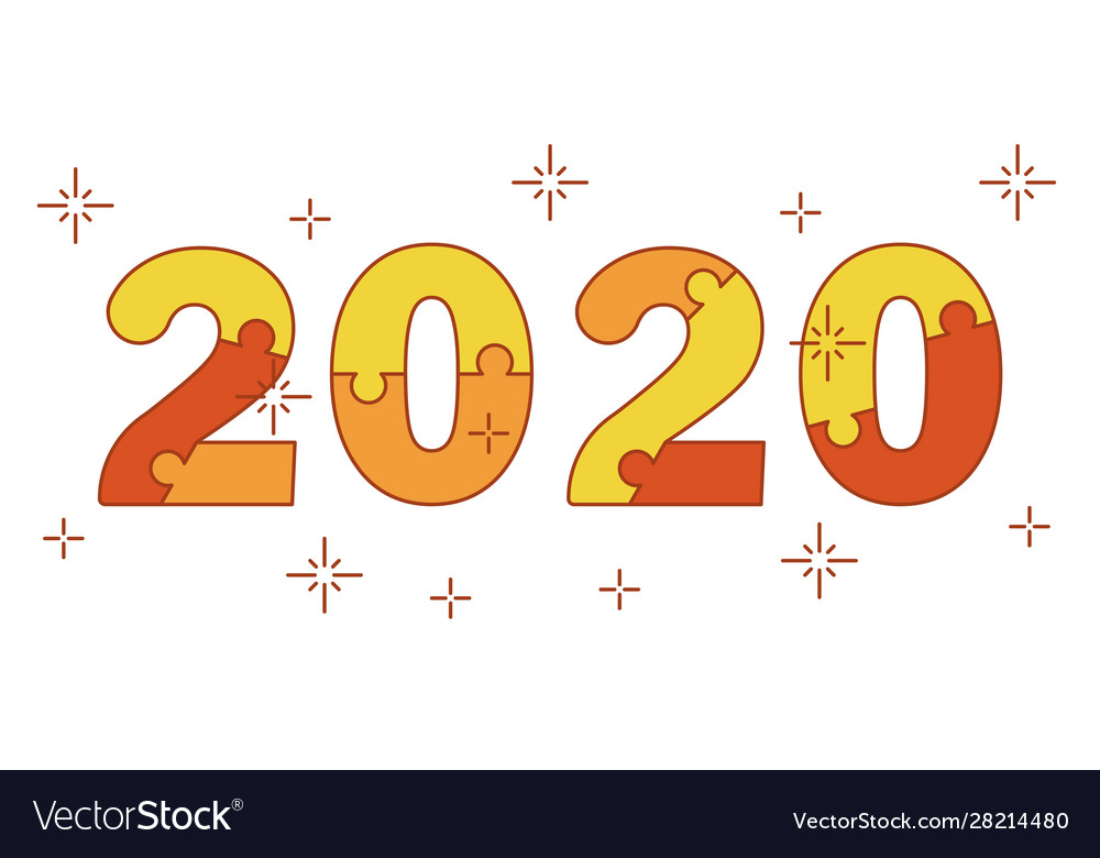Happy new year 2020 numbers from puzzles for