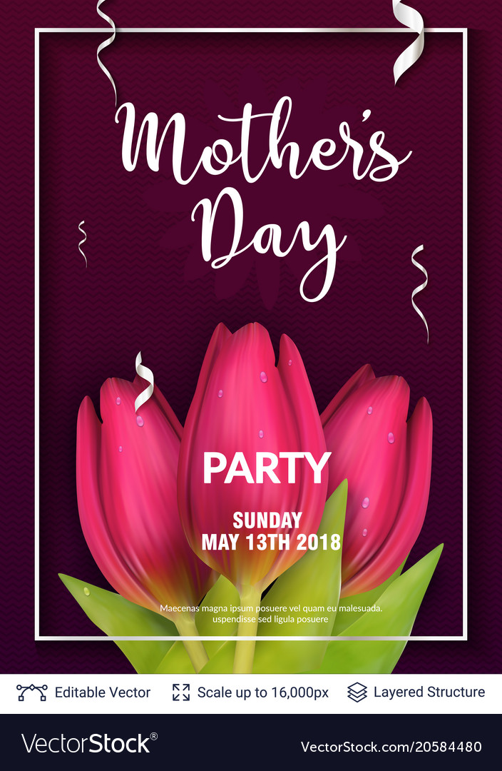 Mother day greeting card template royalty free vector image mother day greeting card template vector image m4hsunfo