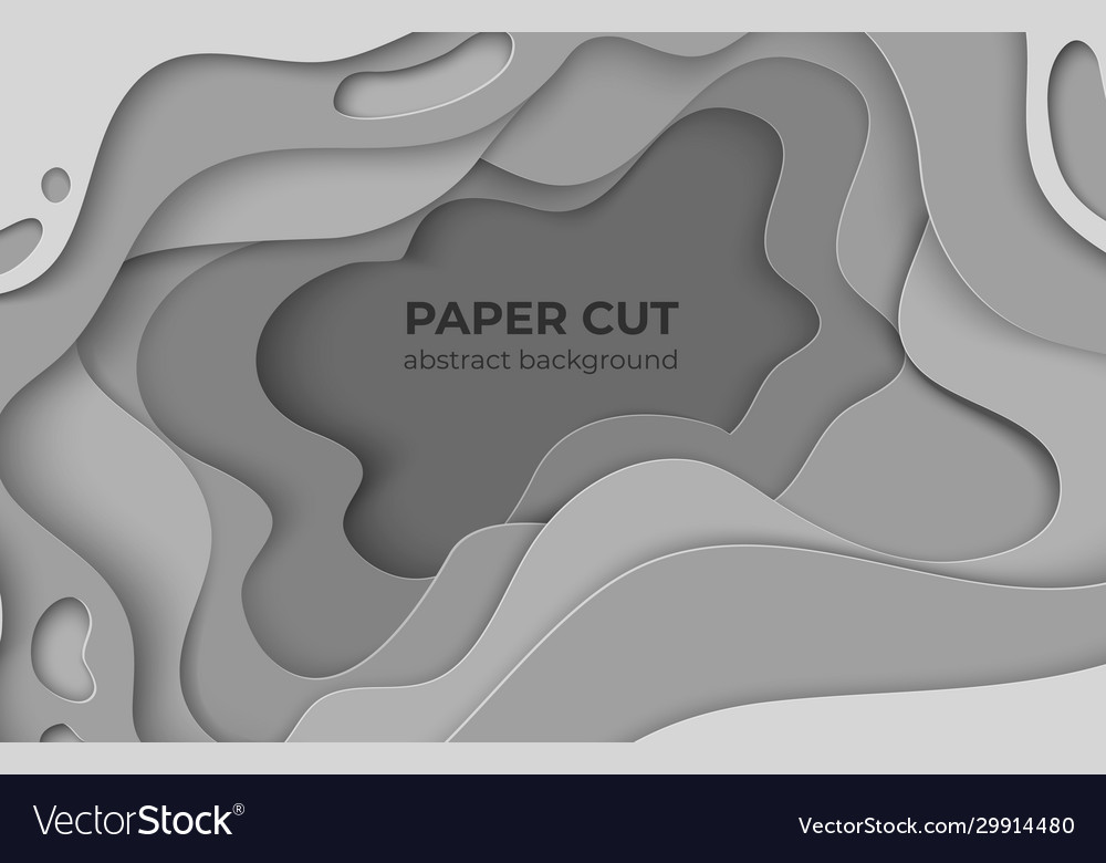 Paper cut background 3d minimal white papercut