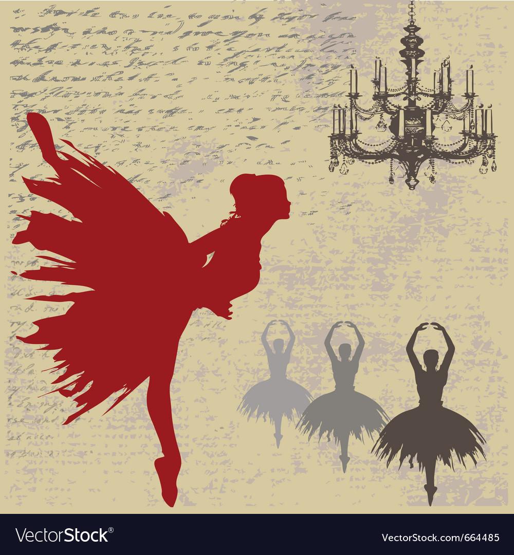 Ballerina background vector image