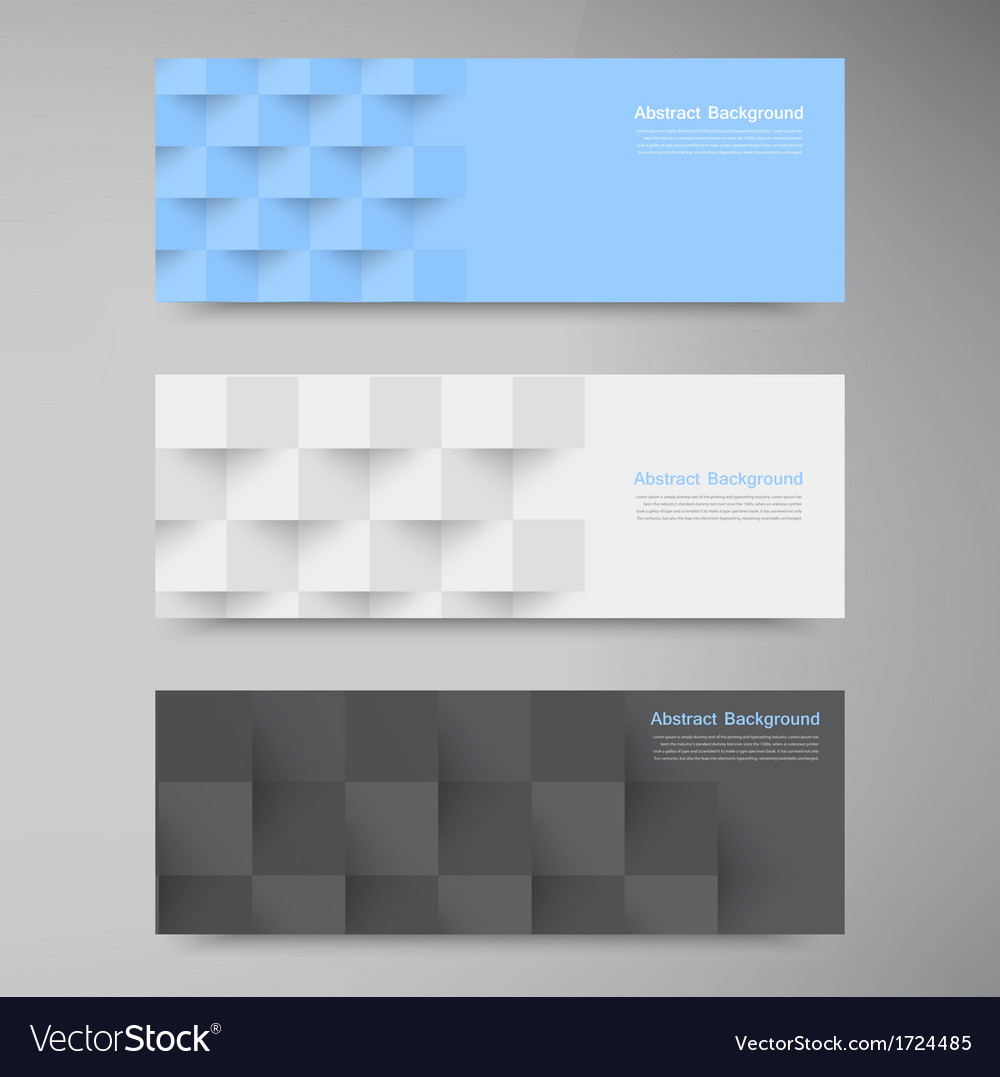 Banners and squares Color set