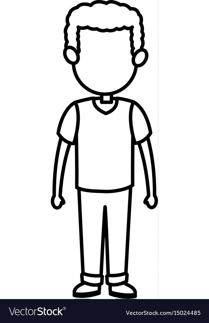 Cartoon man male parent family adult member vector image