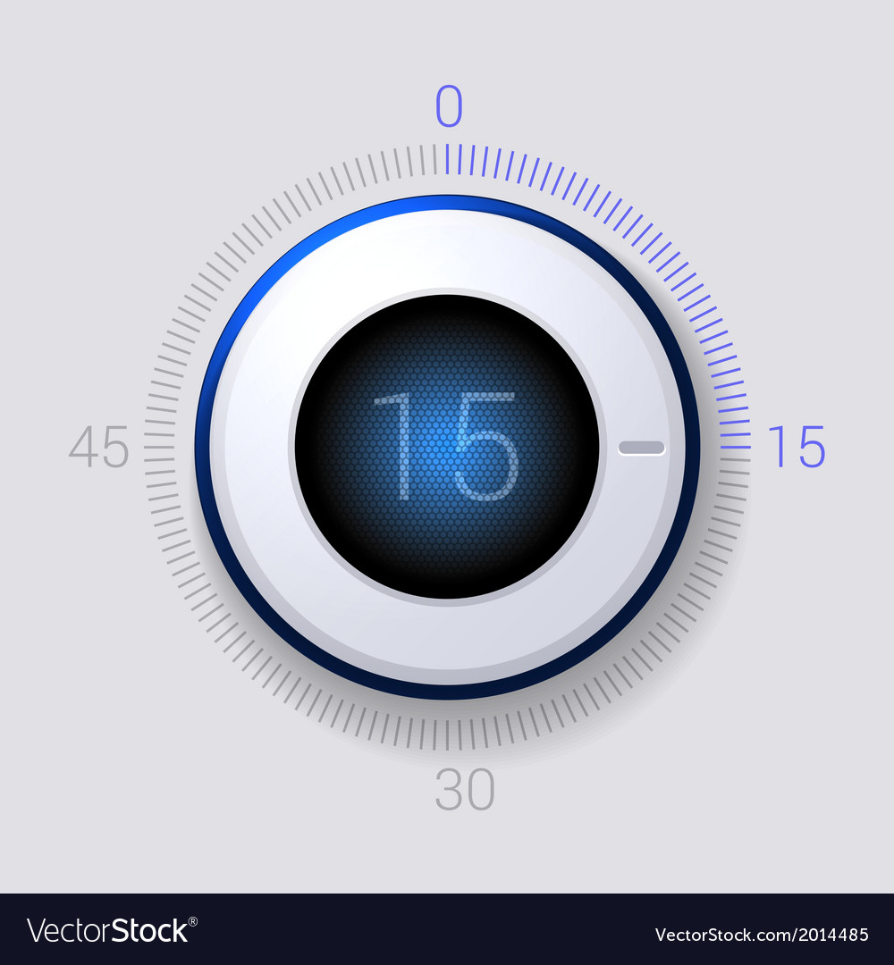 electronic dial timer 15 seconds royalty free vector image