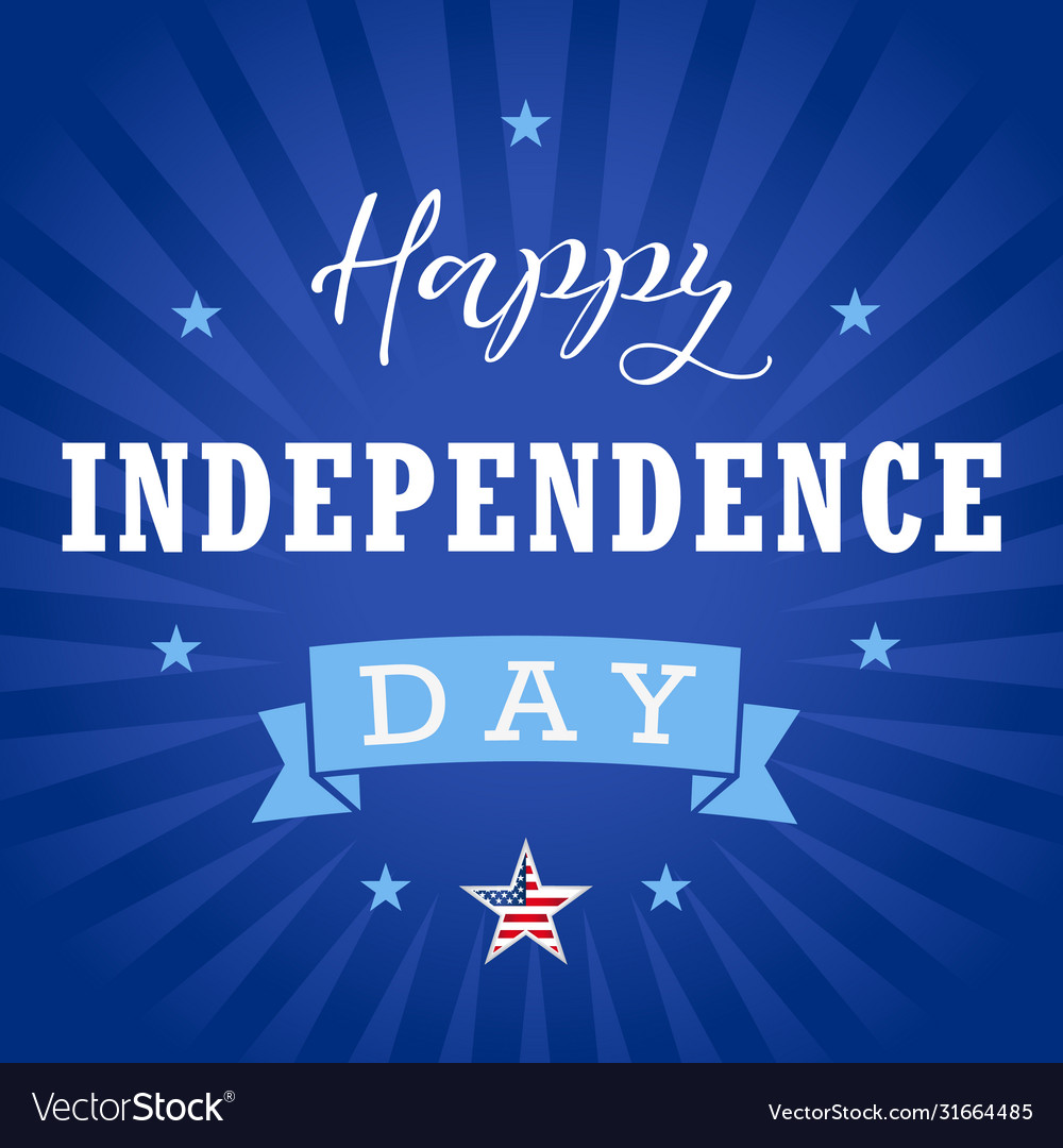Happy independence day usa star blue stripes