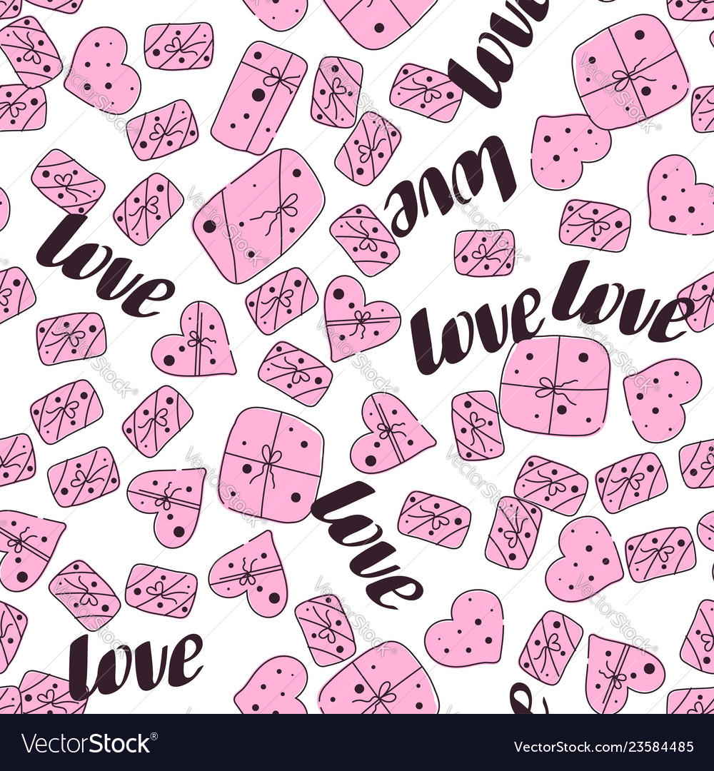 Love seamless valentines day line pattern